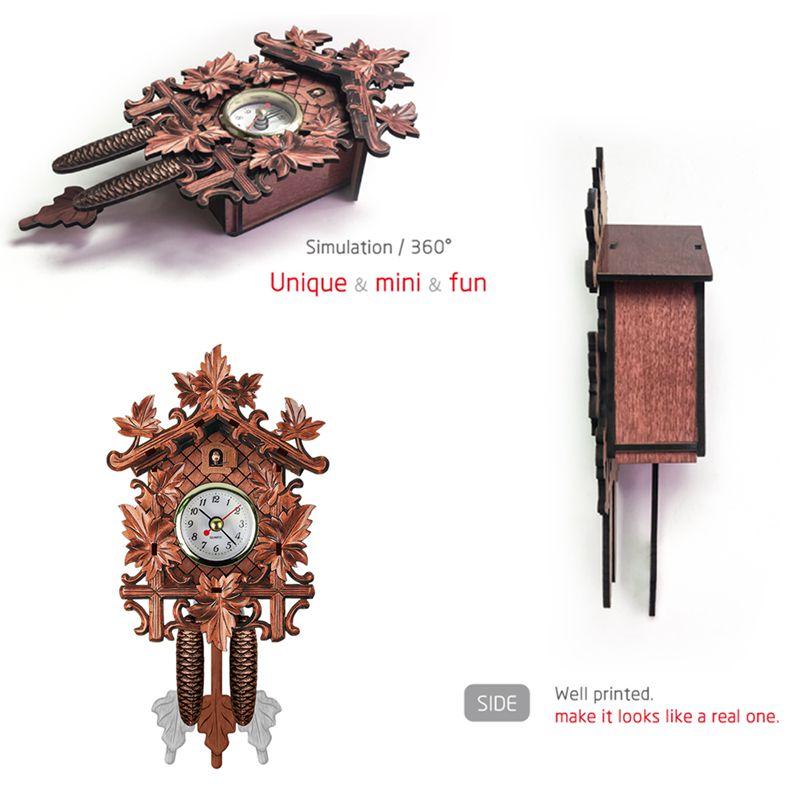 Vintage-Home-Decorative-Bird-Wall-Clock-Hanging-Wood-Cuckoo-Clock-Living-Ro-C2D6 thumbnail 13