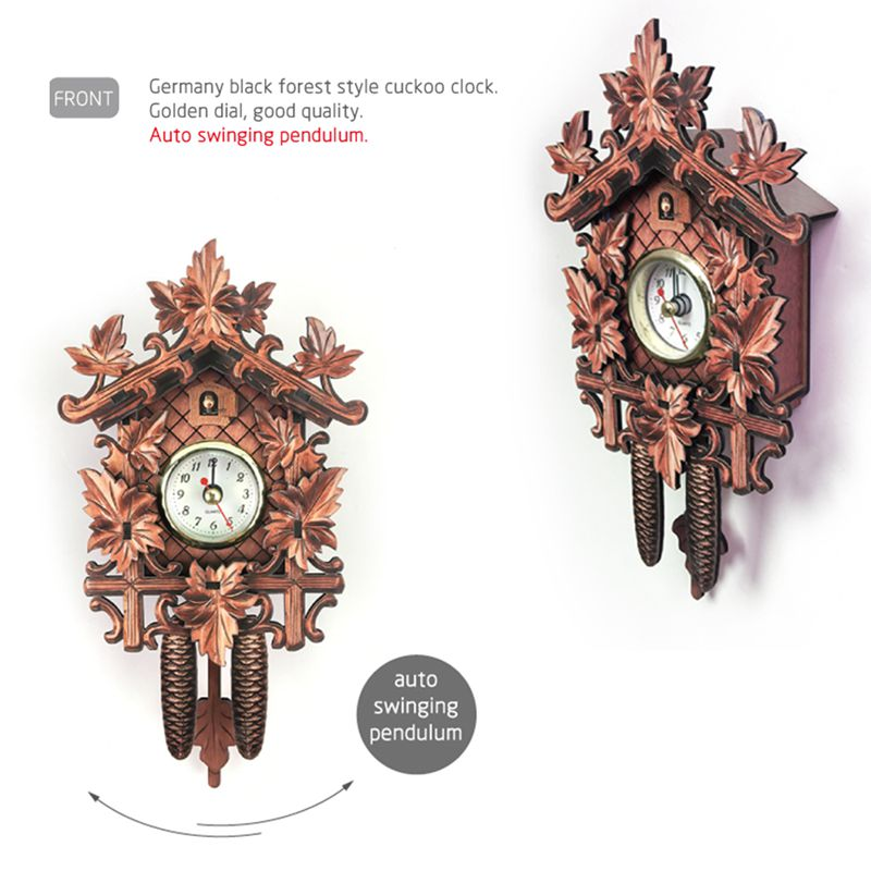 Vintage-Home-Decorative-Bird-Wall-Clock-Hanging-Wood-Cuckoo-Clock-Living-Ro-C2D6 thumbnail 14