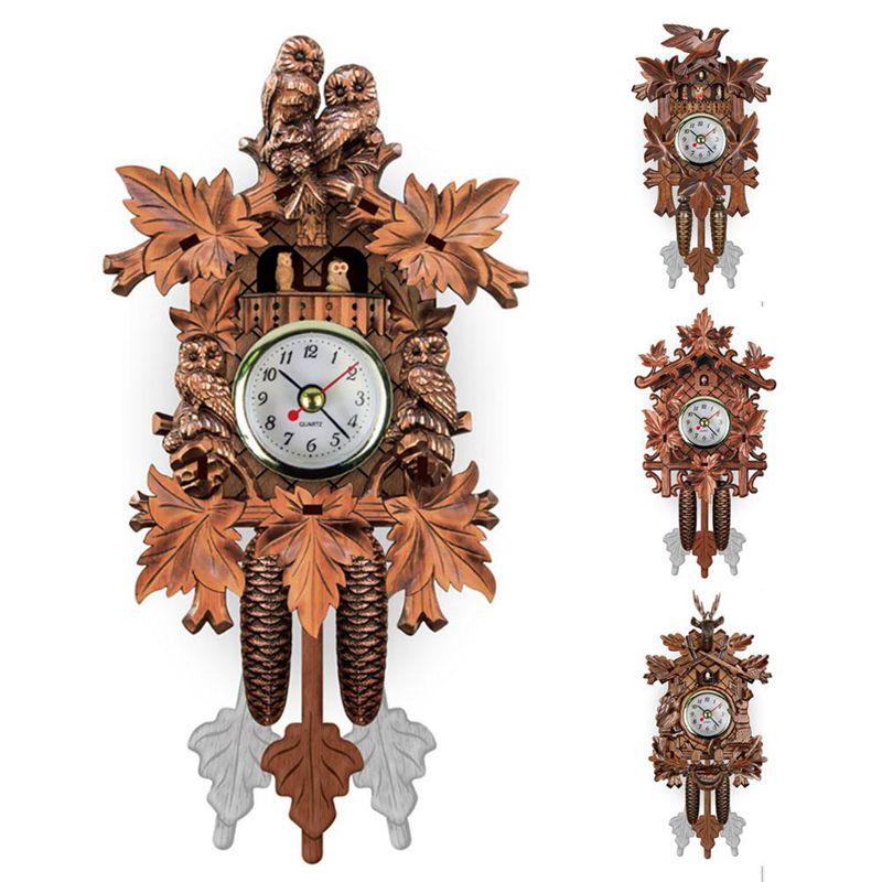 Vintage-Home-Decorative-Bird-Wall-Clock-Hanging-Wood-Cuckoo-Clock-Living-Ro-C2D6 thumbnail 15