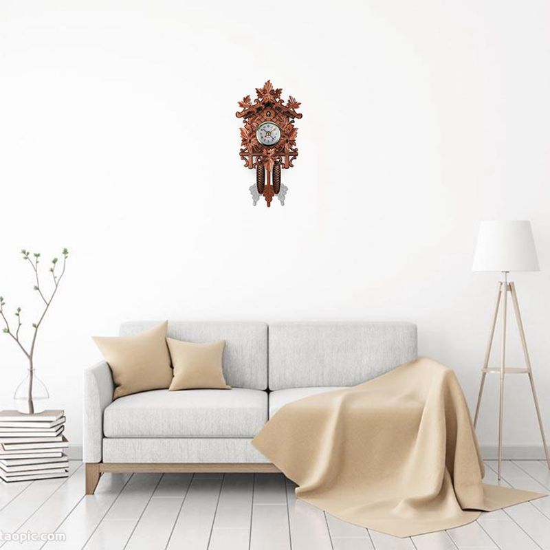 Vintage-Home-Decorative-Bird-Wall-Clock-Hanging-Wood-Cuckoo-Clock-Living-Ro-C2D6 thumbnail 17