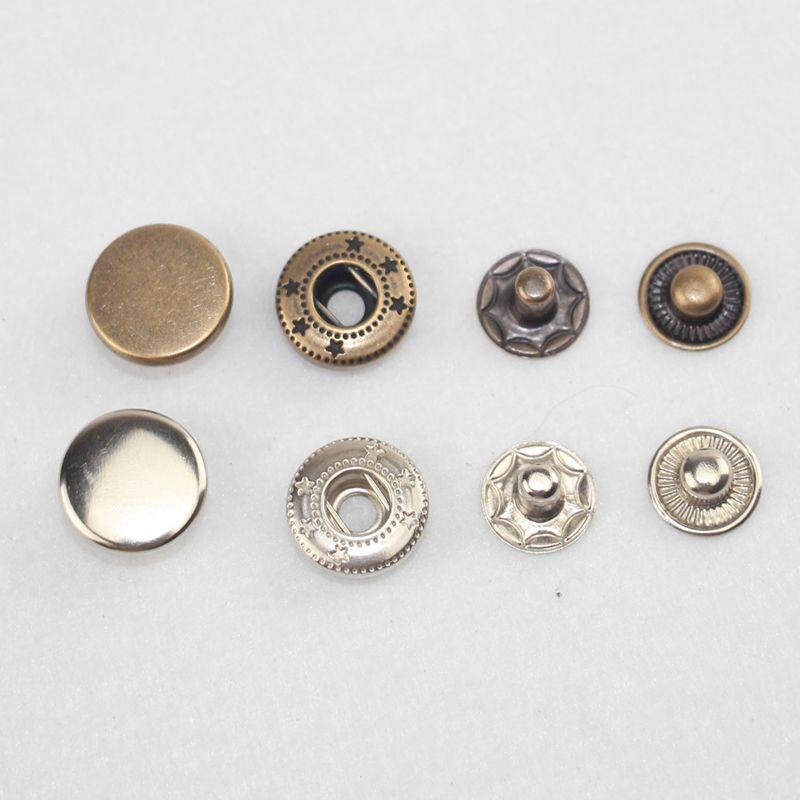 fe1c1dc6f9f9 50x bouton pression argente bronze 12,5mm avec outil pour cuir maroquinerie  R1W9