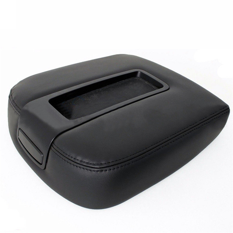Car Leather Console Lid Armrest Cover For 07-13 Chevy Tahoe Suburban Yukon SieN5