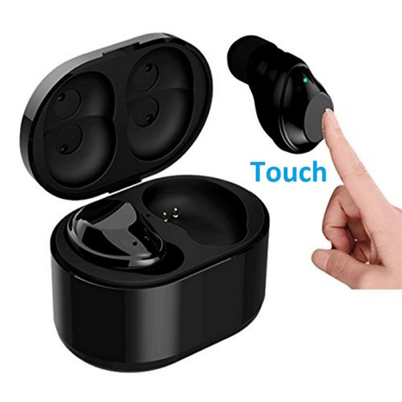 1X-X6-Bluetooth-TWS-Ecouteurs-Vrai-sans-fil-intra-auriculaires-tactiles-eco-T8J2 miniature 3