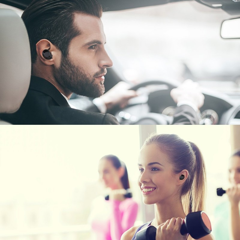 1X-X6-Bluetooth-TWS-Ecouteurs-Vrai-sans-fil-intra-auriculaires-tactiles-eco-T8J2 miniature 11