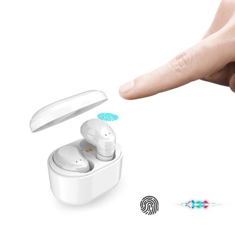 1X-X6-Bluetooth-TWS-Ecouteurs-Vrai-sans-fil-intra-auriculaires-tactiles-eco-T8J2 miniature 14