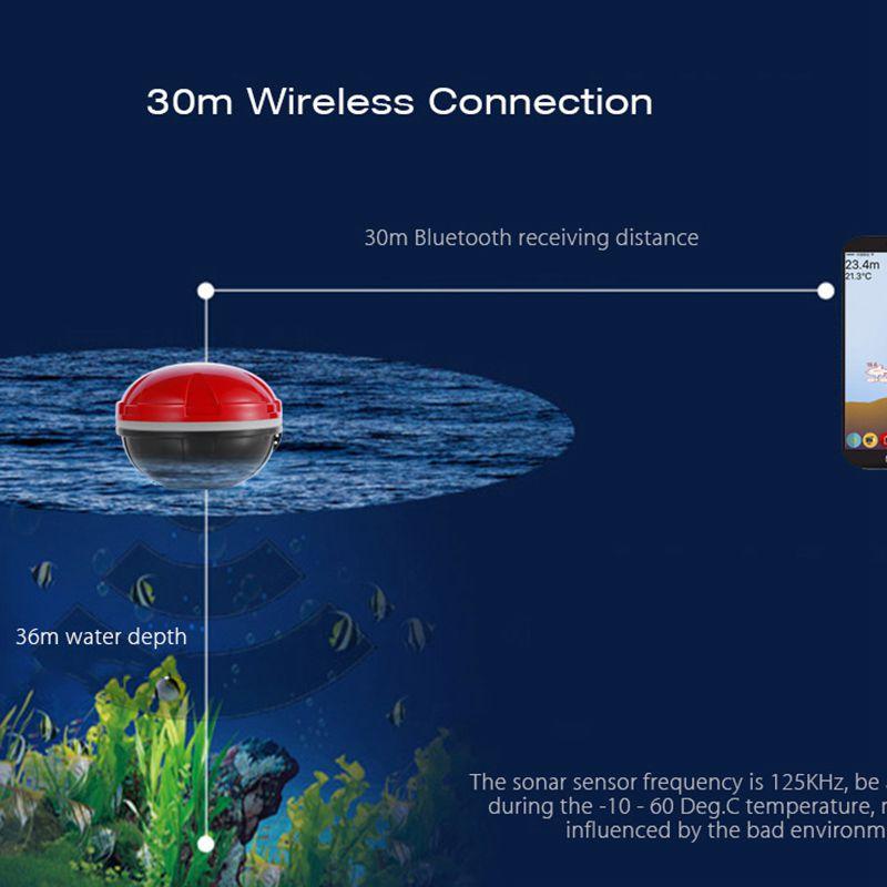 1X(Tiefe Eco-Meter Sonar Fisch Sensor Erfinder Erfinder Erfinder tragbare drahtlose BlautoothZ4I2) faddad