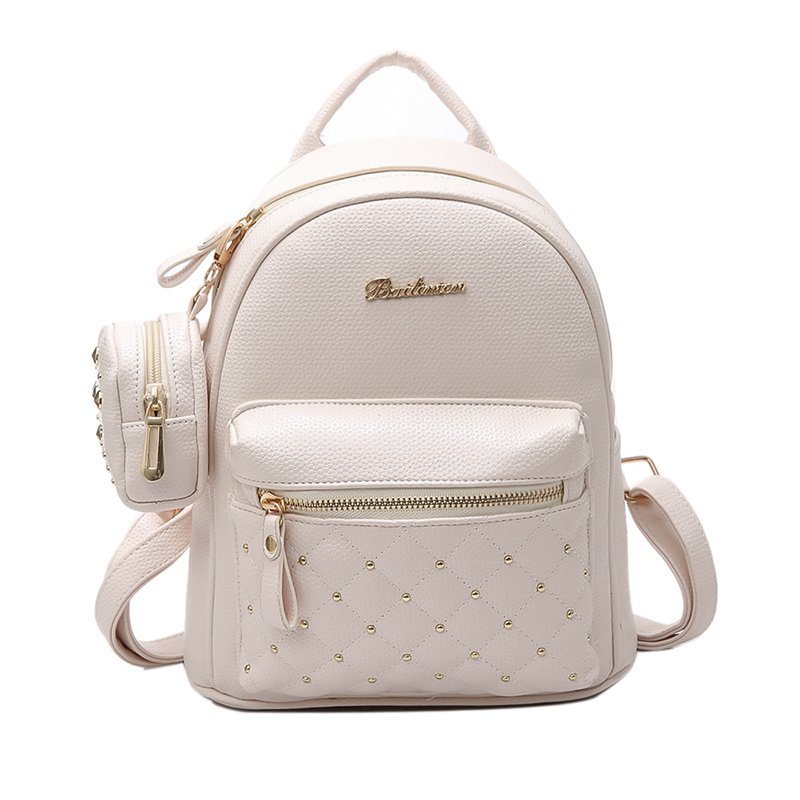 4a17b5efe8 Details about Retro Lady PU Leather Small Bag Women's School Bags for  Teenage Backpacks W D2Y1