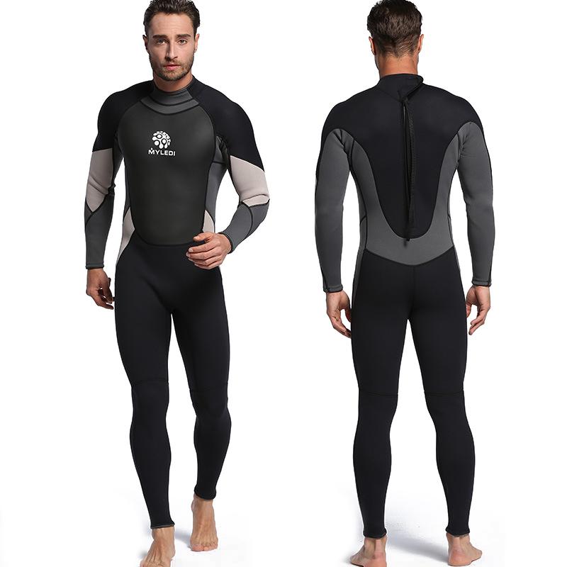 3 mm Un pezzo Sub Completo Impermeabile muta umida Surf Suit H3E9