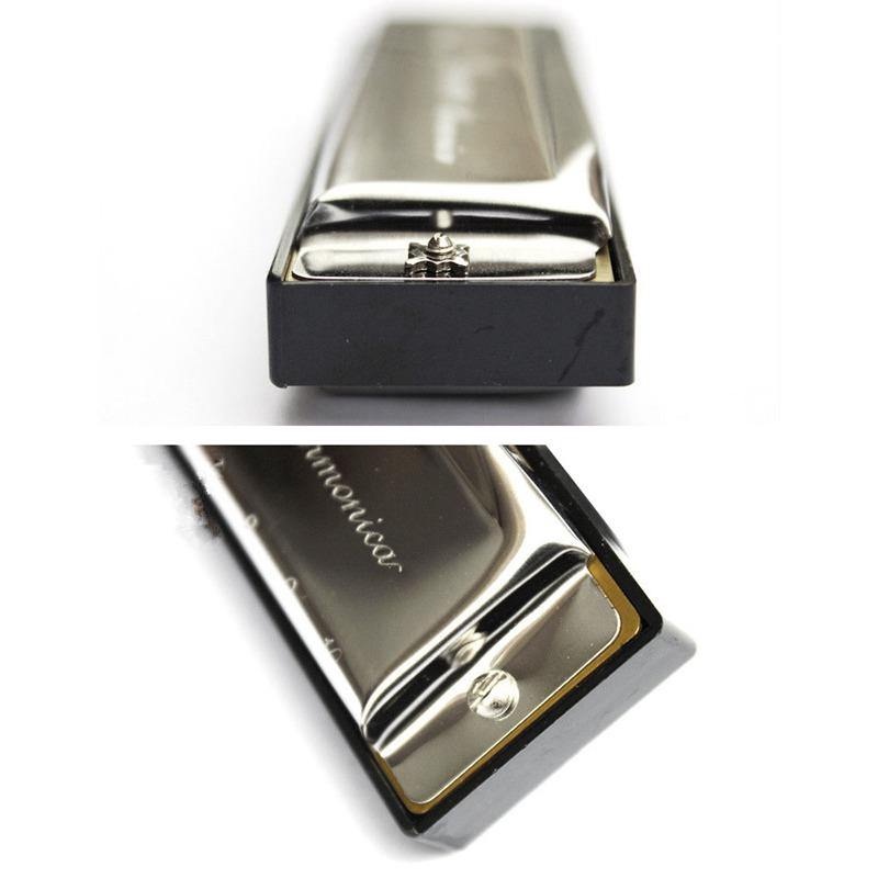 Swan-Harmonica-10-Holes-Key-of-C-SILVER-w-Case-Blues-Harp-Stainless-Steel-T5W0