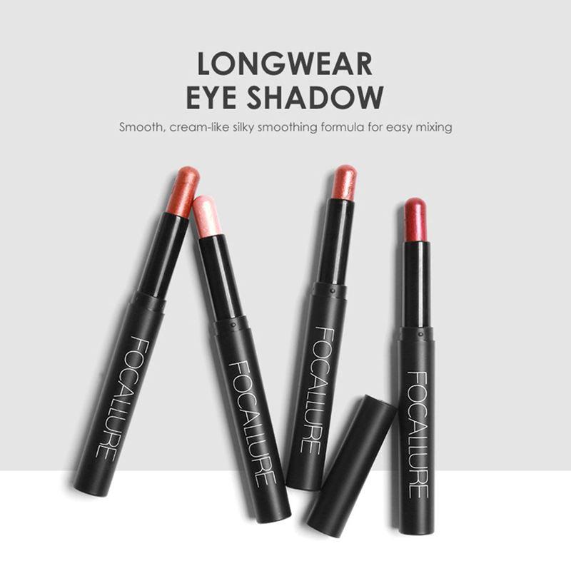 FOCALLURE-Metallic-Eyes-Make-Up-Liner-Pen-Lidschatten-Bleistift-Aufkleber-W-S9R7 Indexbild 8