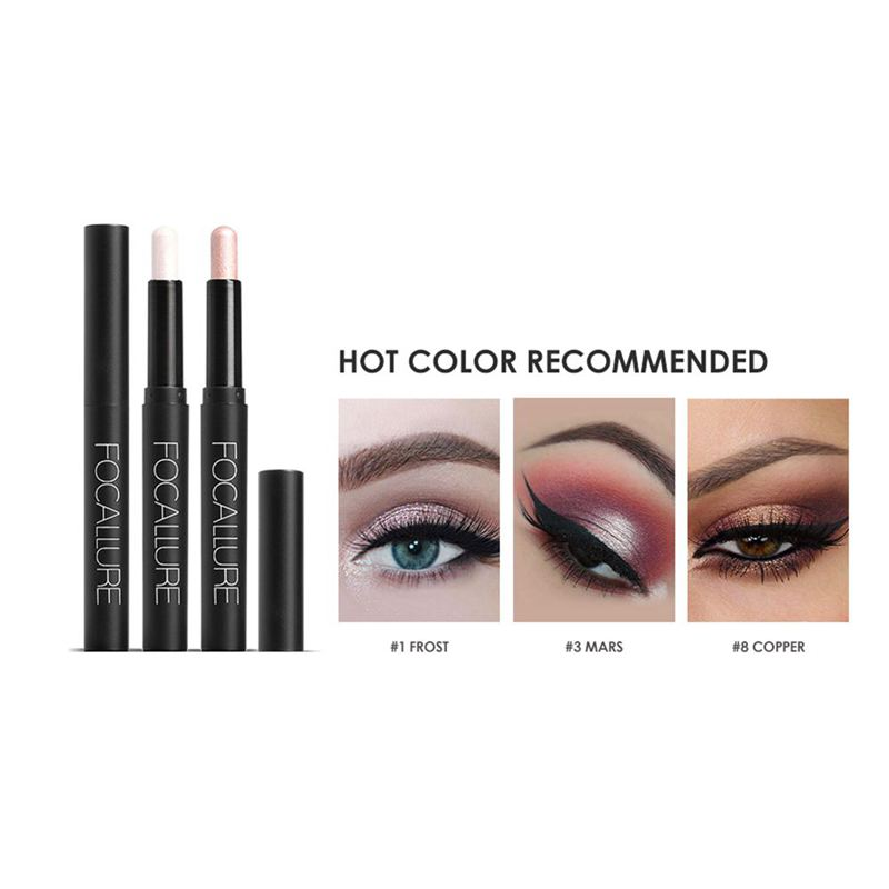 FOCALLURE-Metallic-Eyes-Make-Up-Liner-Pen-Lidschatten-Bleistift-Aufkleber-W-S9R7 Indexbild 14