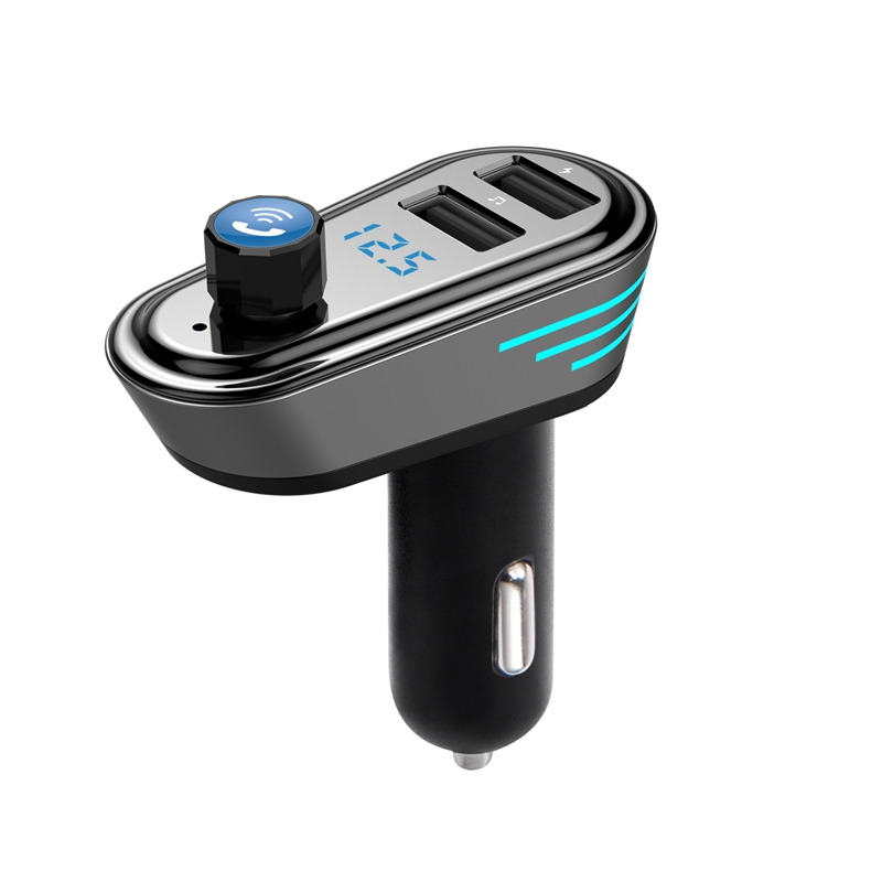 Car-MP3-Dual-USB-4-1-Bluetooth-MP3-Car-Handsfree-Phone-Car-MP3-Player-R8N9 miniatuur 1