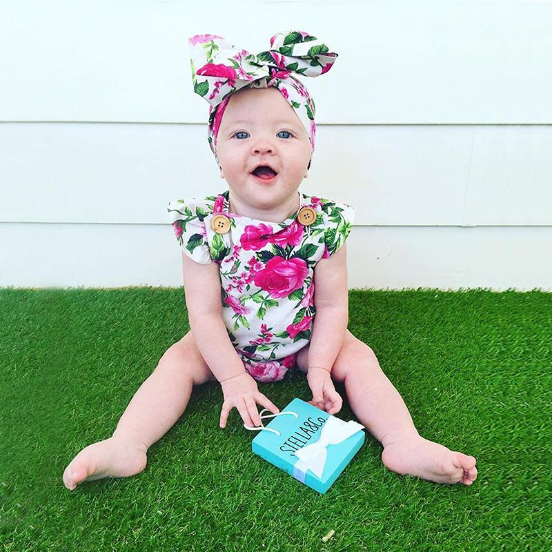 Ropa-para-ninas-bebe-ninos-recien-nacidos-Mono-floral-Mameluco-pelele-sin-p-S2G9 miniatura 3