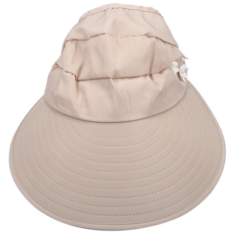 1X-Chapeau-de-soleil-Chapeau-de-plage-pliable-pour-dames-Chapeau-de-visiere-D2M9 miniature 3