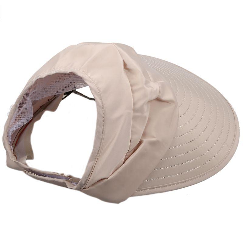 1X-Chapeau-de-soleil-Chapeau-de-plage-pliable-pour-dames-Chapeau-de-visiere-D2M9 miniature 4