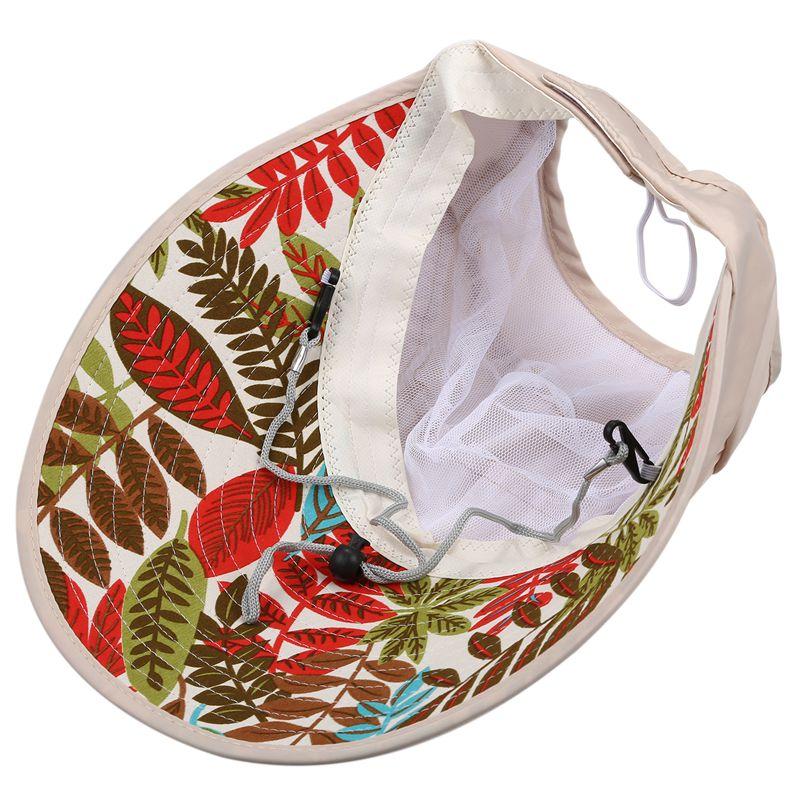1X-Chapeau-de-soleil-Chapeau-de-plage-pliable-pour-dames-Chapeau-de-visiere-D2M9 miniature 5
