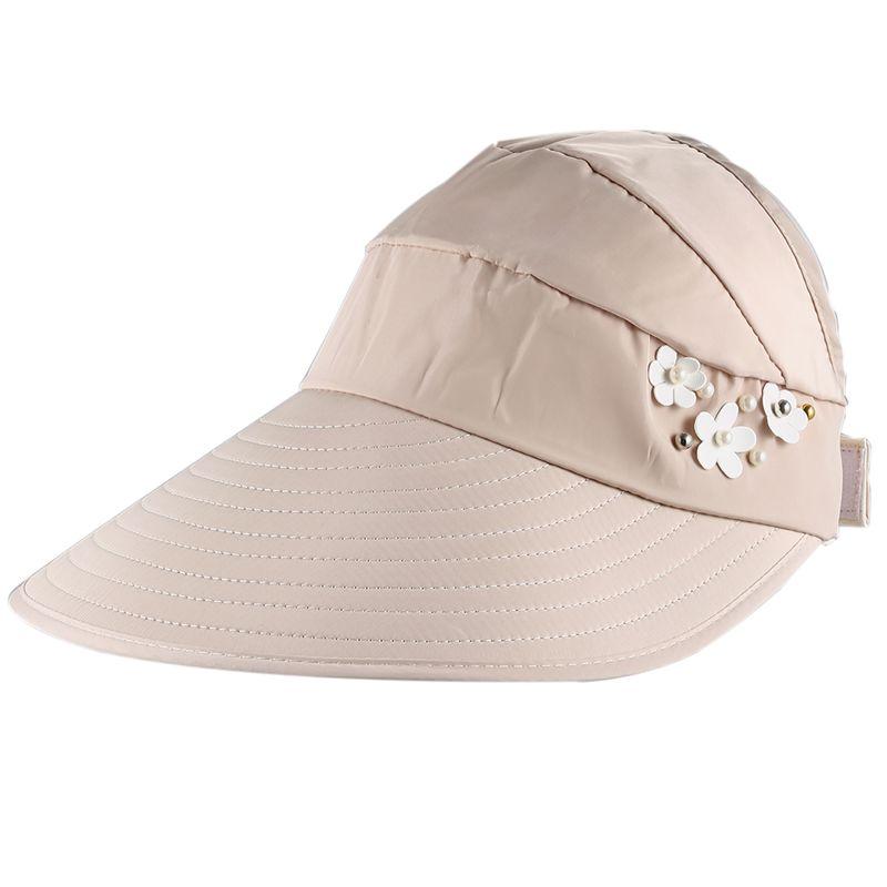 1X-Chapeau-de-soleil-Chapeau-de-plage-pliable-pour-dames-Chapeau-de-visiere-D2M9 miniature 7