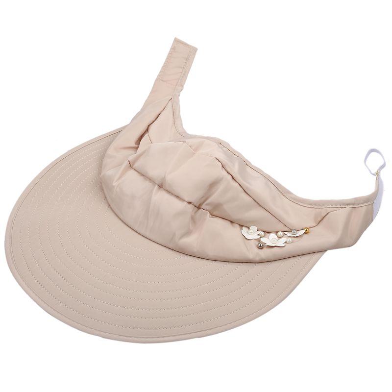 1X-Chapeau-de-soleil-Chapeau-de-plage-pliable-pour-dames-Chapeau-de-visiere-D2M9 miniature 9