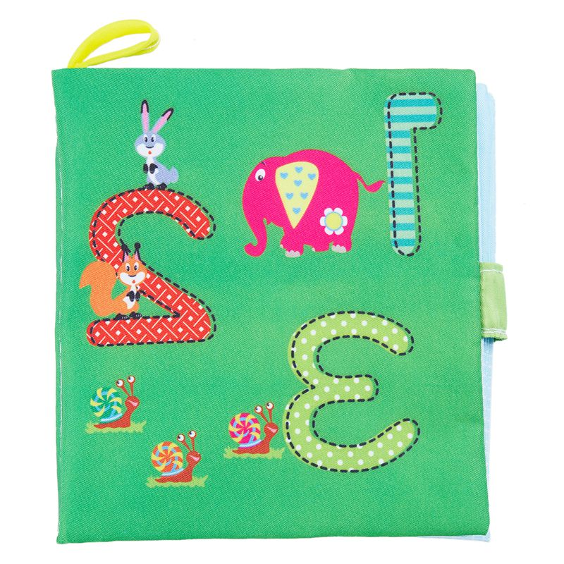 Soft Baby Cloth Book Early Educational Newborn Crib Toys for 0-36 Months Infants
