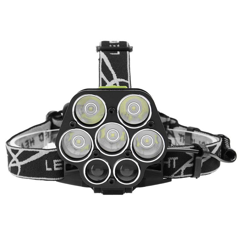 5X(7LED 5T6 Blendung Lade Scheinwerfer Nachtfischen Jagd 5T6 + LTS super Sc P1F1