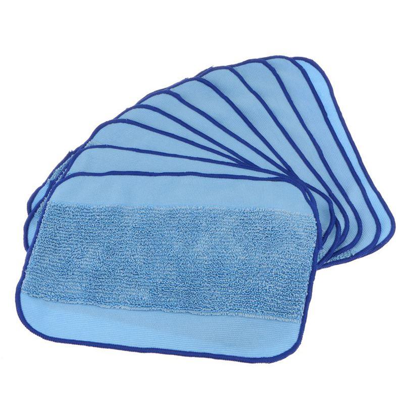 Microfiber Cloth Wet: 10 Pcs Microfiber Mop Pad Vacuums Wet Mopping Cloth Rag