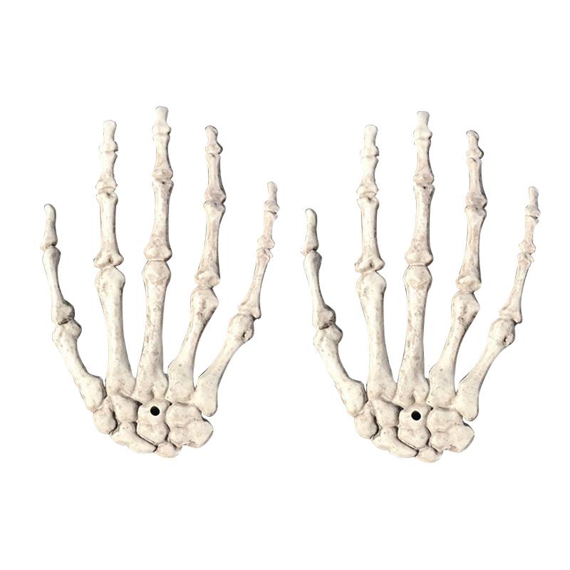 2xhalloween Skull Skeleton Human Hand Bone Zombie Party Terror