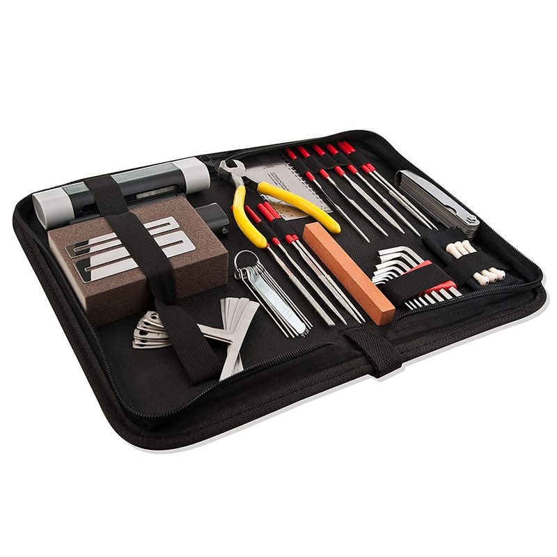 guitar repair and maintenance accessories kit complete care set of tools fo8y4 192948211157 ebay. Black Bedroom Furniture Sets. Home Design Ideas