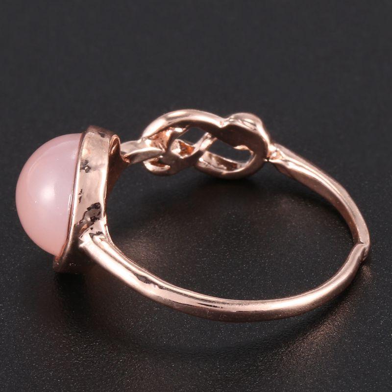 Anillo-de-diamante-de-piedra-lunar-rosada-piedra-natural-Anillo-de-oro-rosa-A7L7 miniatura 6