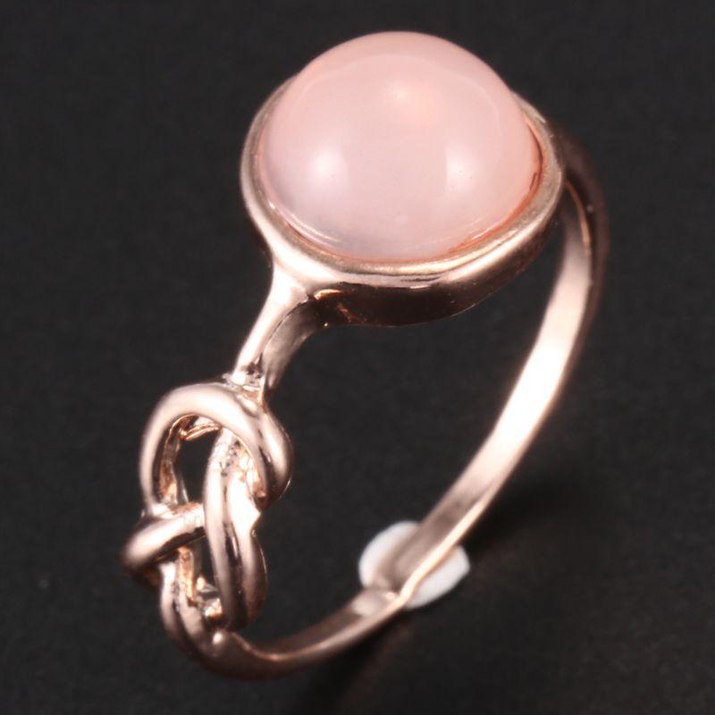 Anillo-de-diamante-de-piedra-lunar-rosada-piedra-natural-Anillo-de-oro-rosa-A7L7 miniatura 8