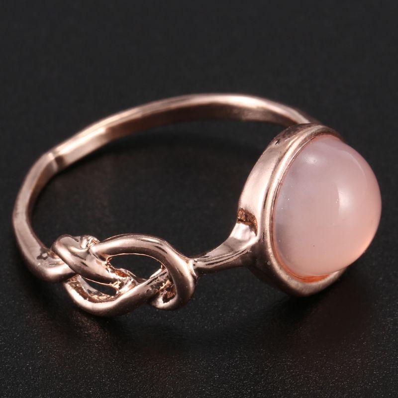 Anillo-de-diamante-de-piedra-lunar-rosada-piedra-natural-Anillo-de-oro-rosa-A7L7 miniatura 12