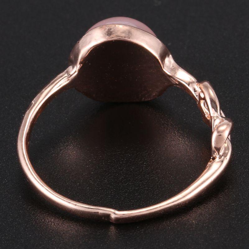 Anillo-de-diamante-de-piedra-lunar-rosada-piedra-natural-Anillo-de-oro-rosa-A7L7 miniatura 13