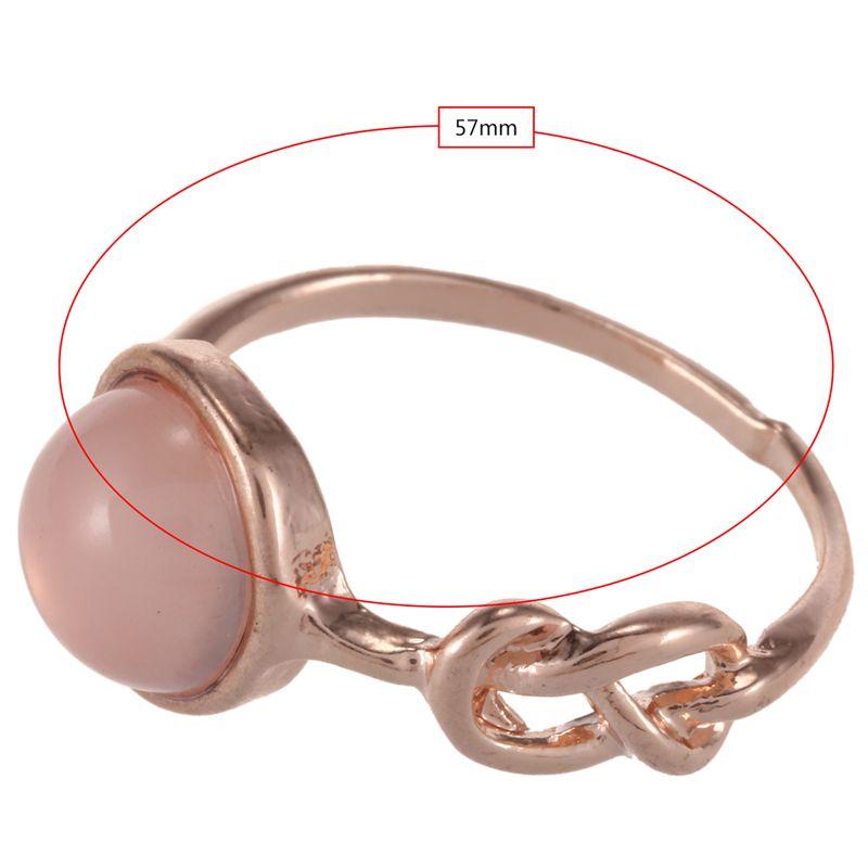 Anillo-de-diamante-de-piedra-lunar-rosada-piedra-natural-Anillo-de-oro-rosa-A7L7 miniatura 19