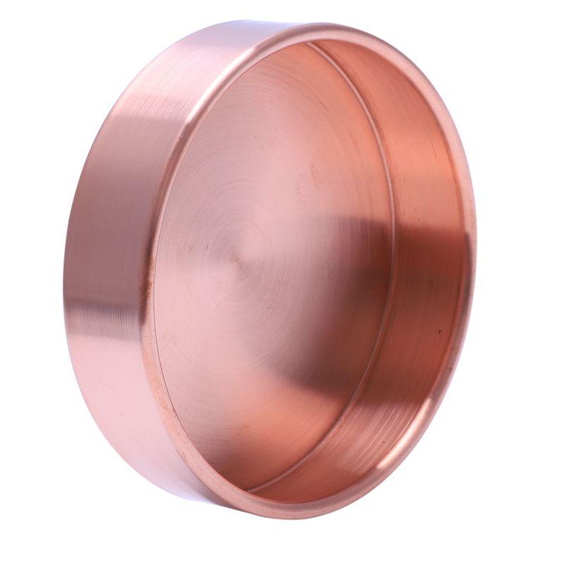 Metall Effekt Wandfarbe Kupfer: 2X(Kupfer Runde Crimpen Ablagekorb Schreibtisch Metall