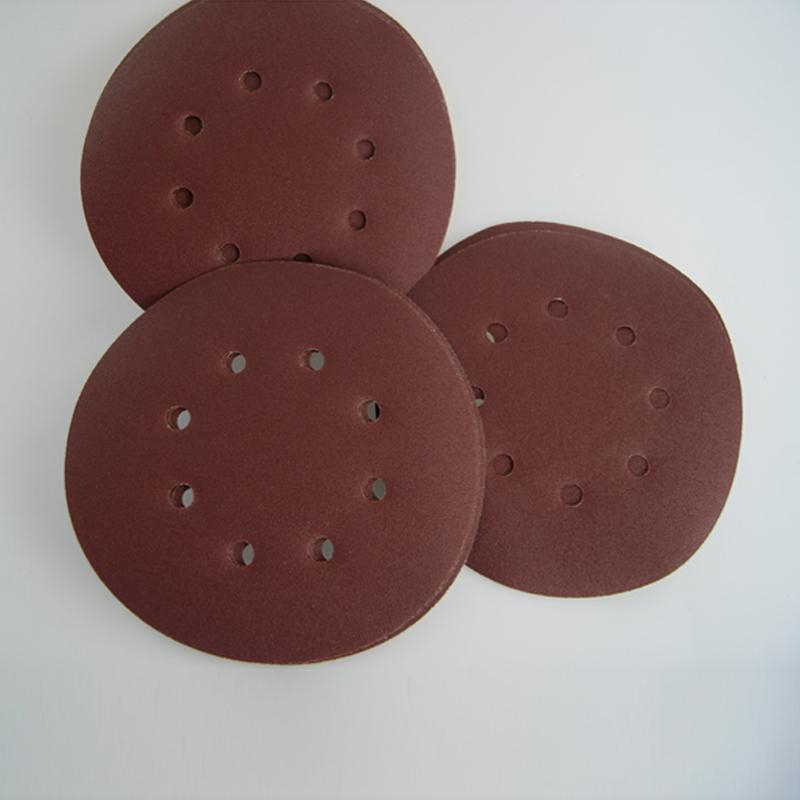 Productos abrasivos y de acabado 5 discos de papel de lija de grano 80 150 mm Herramientas de lijado