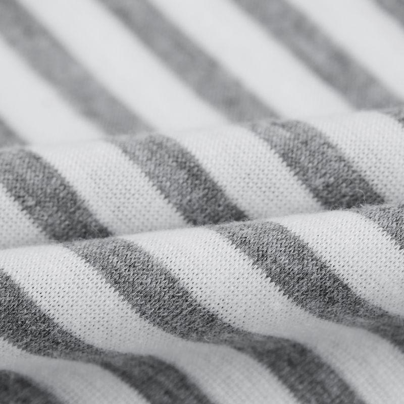 Camiseta-De-Manga-Corta-A-Rayas-Para-Mujer-Chaqueta-Informal-X1L9 miniatura 20