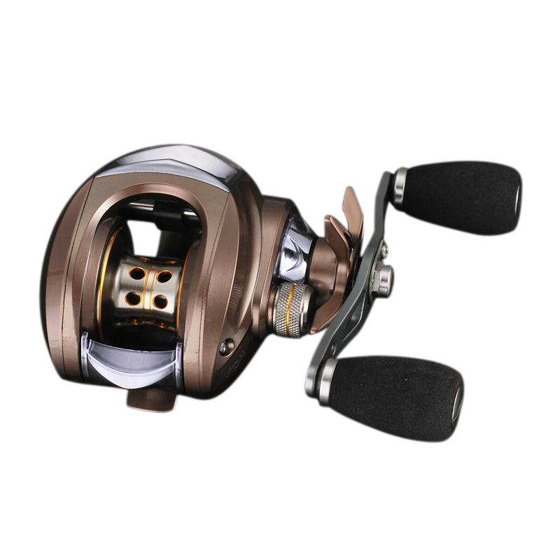 4X Mulinello Da Pesca Mulinello Baitcasting Mano Sinistra rapporto 6.3  1 131 BB Esche CAST rD3C8