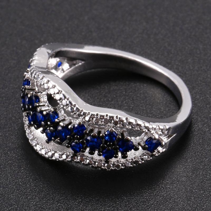Anillo-exquisito-Joyas-de-diamante-de-zafiro-azul-hueco-Fiesta-de-compromis-S7O7 miniatura 8