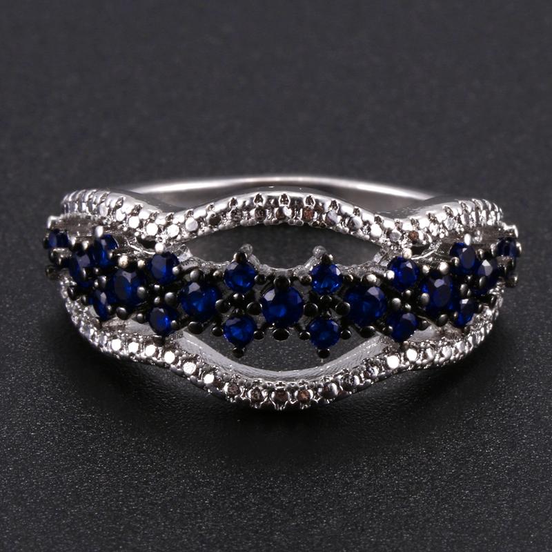 Anillo-exquisito-Joyas-de-diamante-de-zafiro-azul-hueco-Fiesta-de-compromis-S7O7 miniatura 9