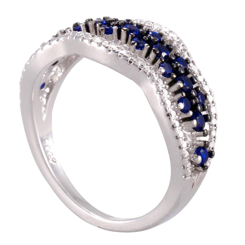 Anillo-exquisito-Joyas-de-diamante-de-zafiro-azul-hueco-Fiesta-de-compromis-S7O7 miniatura 14