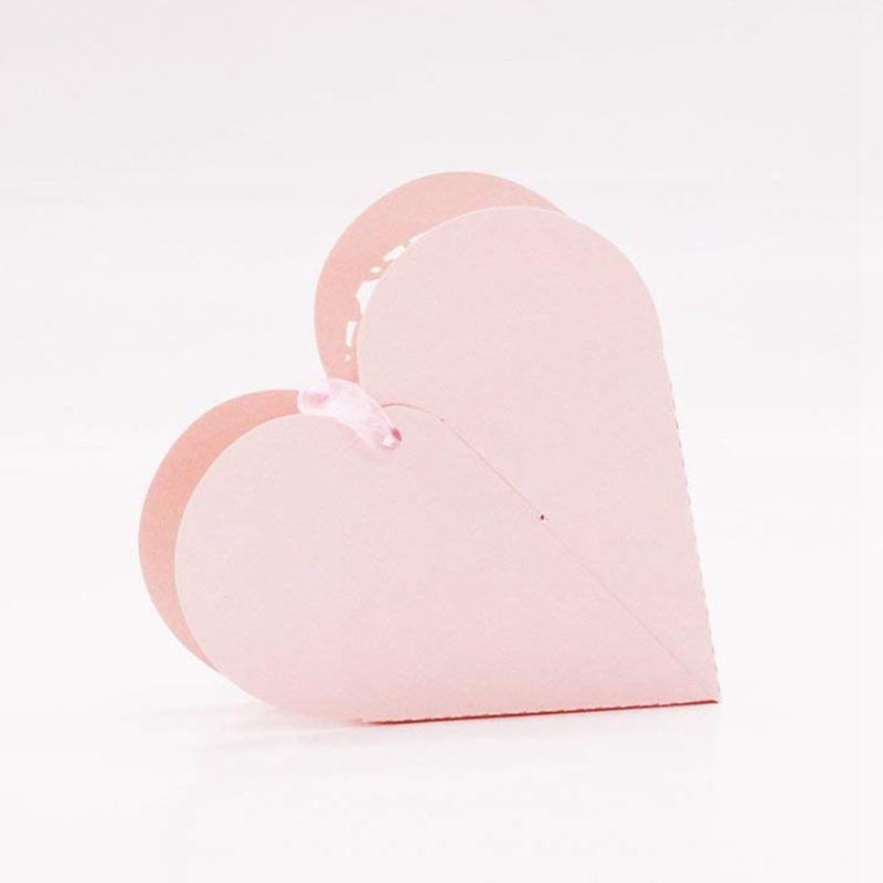 Lot-de-20-Boite-a-Dragees-Coeur-Bonbonniere-en-Papier-Boite-Cadeau-pour-Fet-H9R9 miniature 3