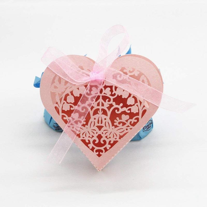 Lot-de-20-Boite-a-Dragees-Coeur-Bonbonniere-en-Papier-Boite-Cadeau-pour-Fet-H9R9 miniature 4