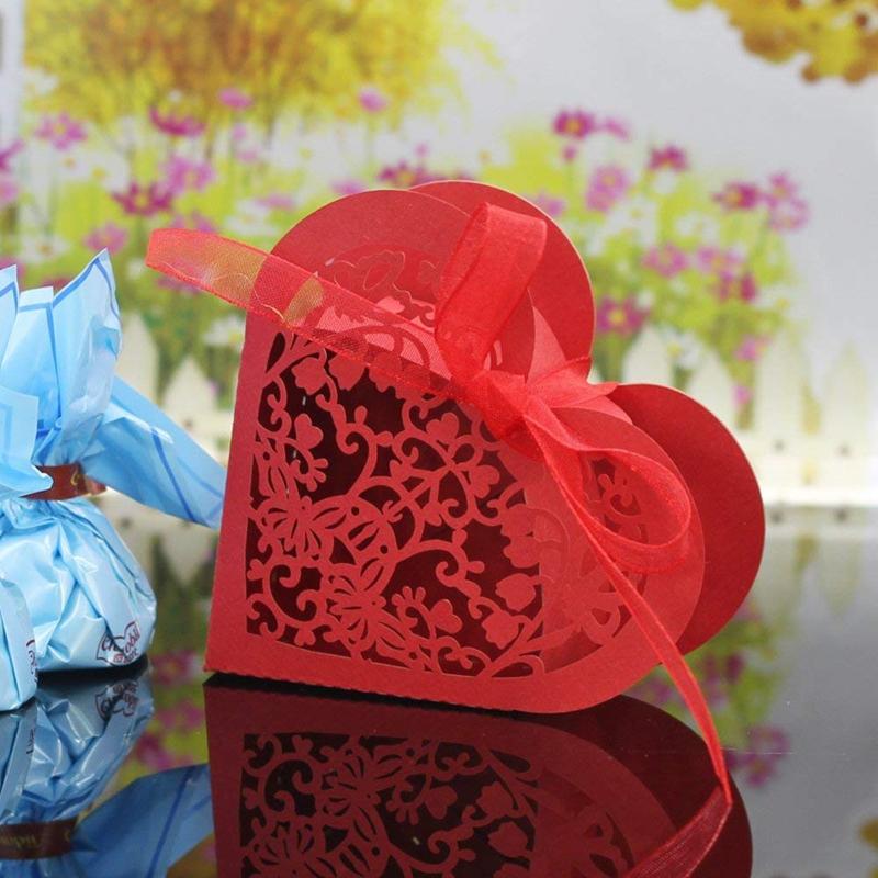 Lot-de-20-Boite-a-Dragees-Coeur-Bonbonniere-en-Papier-Boite-Cadeau-pour-Fet-H9R9 miniature 16