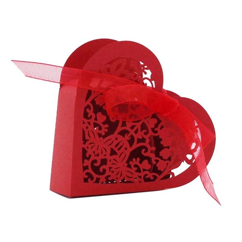 Lot-de-20-Boite-a-Dragees-Coeur-Bonbonniere-en-Papier-Boite-Cadeau-pour-Fet-H9R9 miniature 10