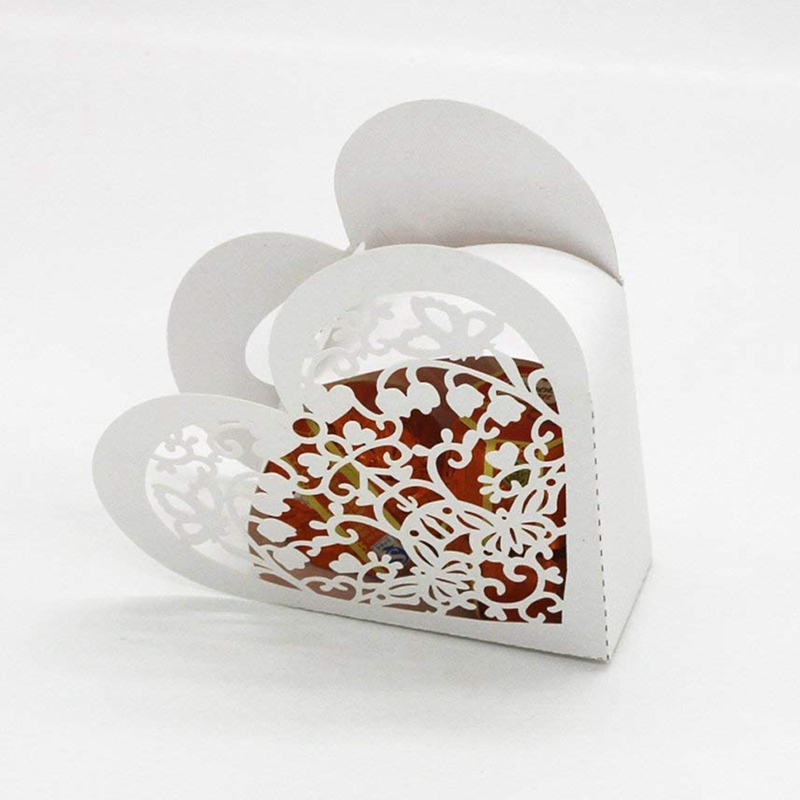 Lot-de-20-Boite-a-Dragees-Coeur-Bonbonniere-en-Papier-Boite-Cadeau-pour-Fet-H9R9 miniature 27
