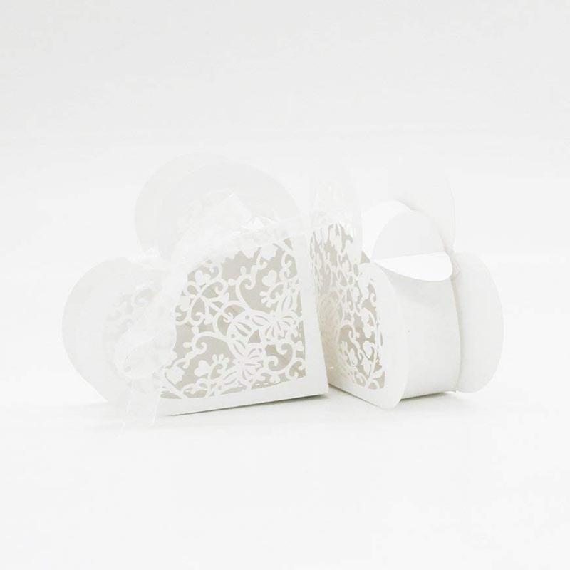 Lot-de-20-Boite-a-Dragees-Coeur-Bonbonniere-en-Papier-Boite-Cadeau-pour-Fet-H9R9 miniature 29