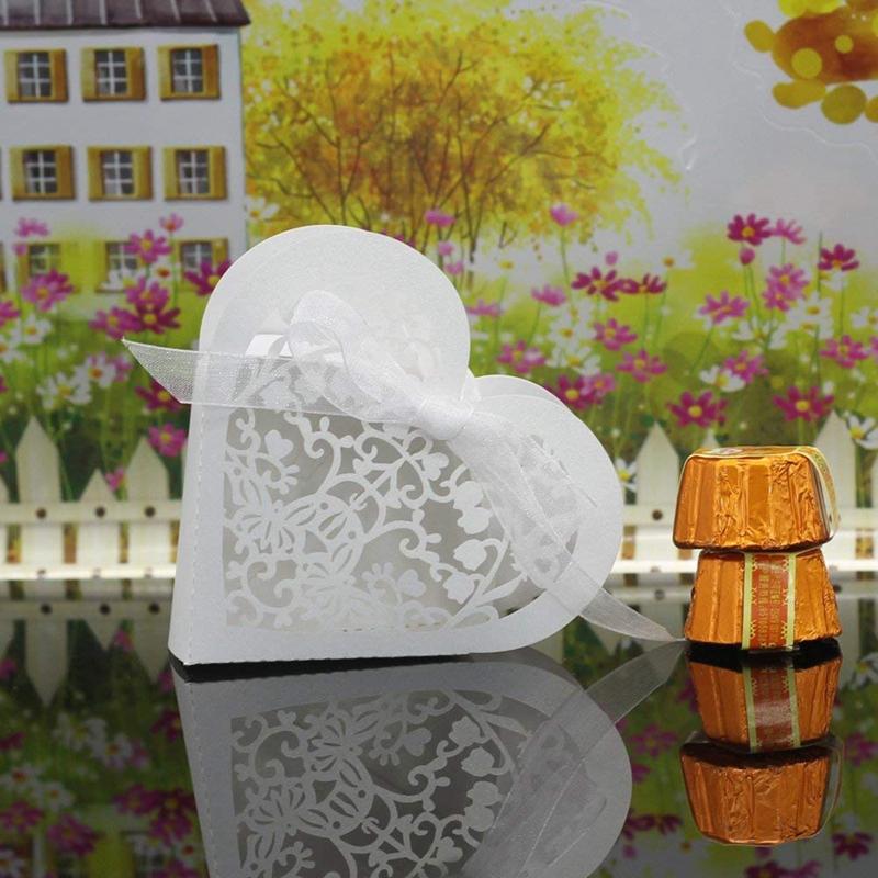 Lot-de-20-Boite-a-Dragees-Coeur-Bonbonniere-en-Papier-Boite-Cadeau-pour-Fet-H9R9 miniature 32