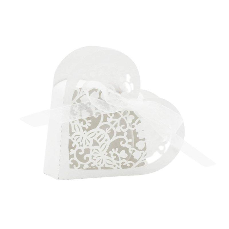 Lot-de-20-Boite-a-Dragees-Coeur-Bonbonniere-en-Papier-Boite-Cadeau-pour-Fet-H9R9 miniature 26