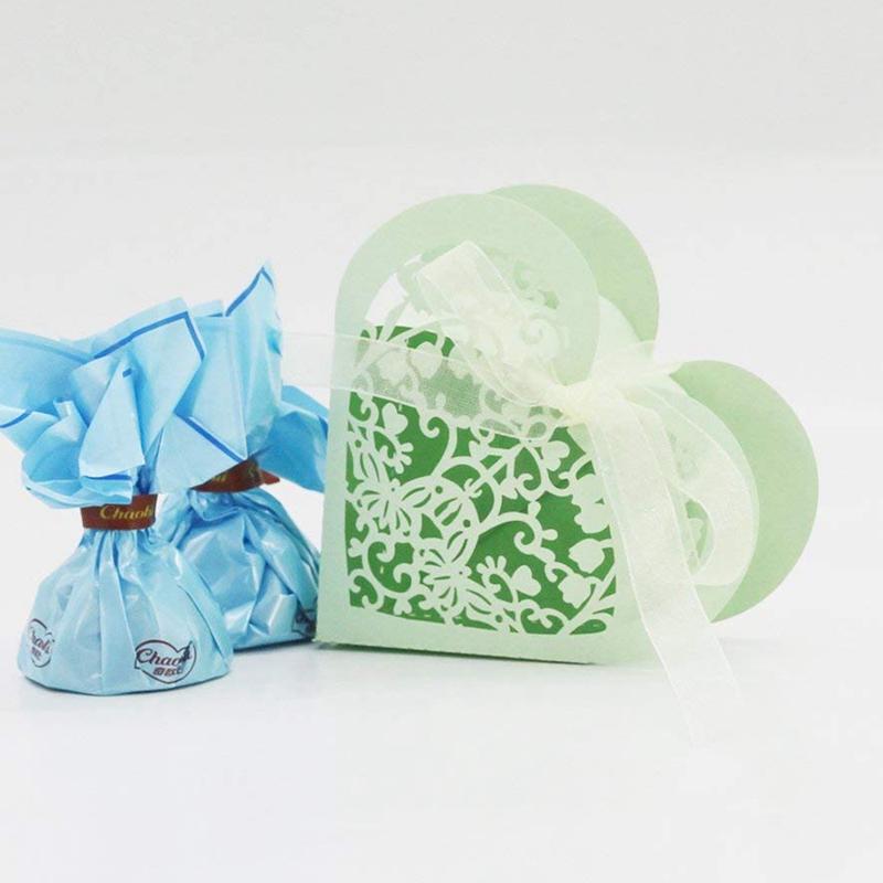 Lot-de-20-Boite-a-Dragees-Coeur-Bonbonniere-en-Papier-Boite-Cadeau-pour-Fet-H9R9 miniature 36
