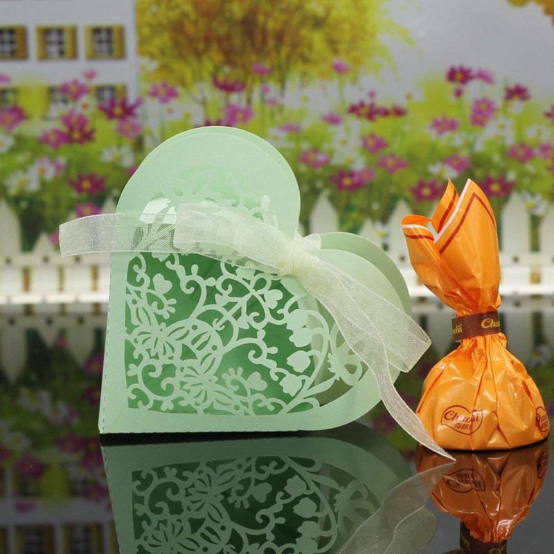 Lot-de-20-Boite-a-Dragees-Coeur-Bonbonniere-en-Papier-Boite-Cadeau-pour-Fet-H9R9 miniature 40