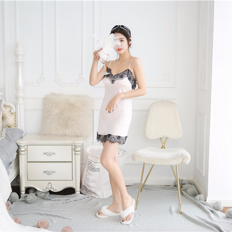 2X-Sexy-Autumn-That-Occupy-The-Home-Women-Silk-Pajamas-Suits-Removable-Bra-F6G7 thumbnail 13